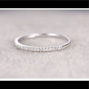 Jewelry - 10K half eternity diamond ring (size 6)
